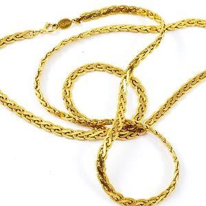 Vintage Napier Necklace Gold Tone Chain